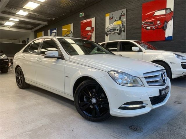 Used Mercedes-Benz C200 W204 BlueEFFICIENCY, 2012 Mercedes-Benz C200 W204 BlueEFFICIENCY White Sports Automatic Sedan