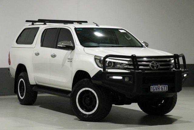 Used Toyota Hilux GUN126R SR5 (4x4), 2016 Toyota Hilux GUN126R SR5 (4x4) White 6 Speed Manual Dual Cab Utility