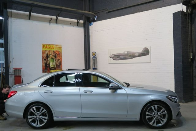 Used Mercedes-Benz C200 W205 807MY 7G-Tronic +, 2016 Mercedes-Benz C200 W205 807MY 7G-Tronic + Silver 7 Speed Sports Automatic Sedan