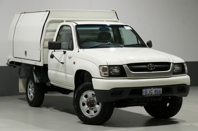 Used Toyota Hilux LN167R (4x4), 2003 Toyota Hilux LN167R (4x4) White 5 Speed Manual 4x4 Cab Chassis