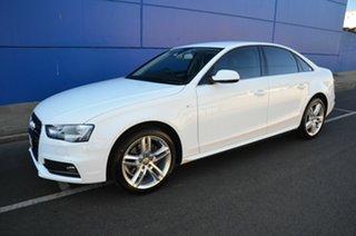 2015 Audi A4 B8 (8K) MY15 1.8 TFSI S-Line LE White CVT Multitronic Sedan.