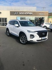 2019 Hyundai Santa Fe TM.2 MY20 Elite White Cream 8 Speed Sports Automatic Wagon.