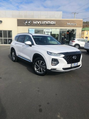Demo Hyundai Santa Fe TM.2 MY20 Elite, 2019 Hyundai Santa Fe TM.2 MY20 Elite White Cream 8 Speed Sports Automatic Wagon