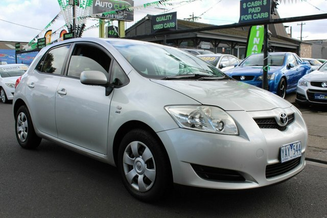 Used Toyota Corolla ZRE152R Ascent West Footscray, 2008 Toyota Corolla ZRE152R Ascent Silver 6 Speed Manual Hatchback