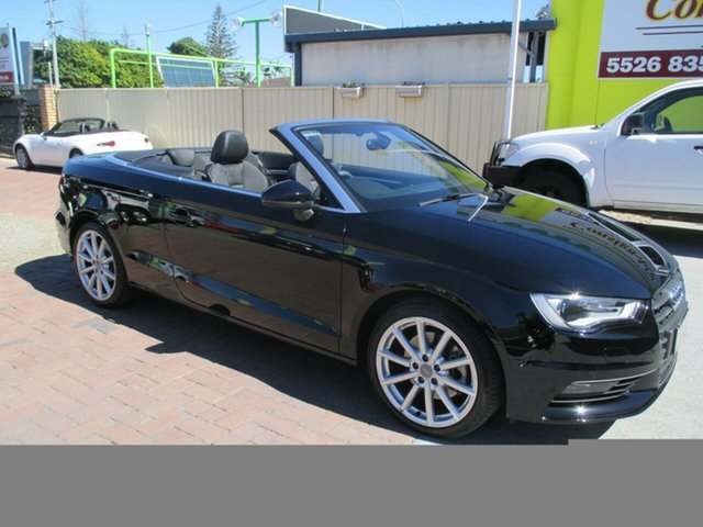 Used Audi A3 8V MY15 Ambition S Tronic, 2014 Audi A3 8V MY15 Ambition S Tronic Black 7 Speed Sports Automatic Dual Clutch Cabriolet