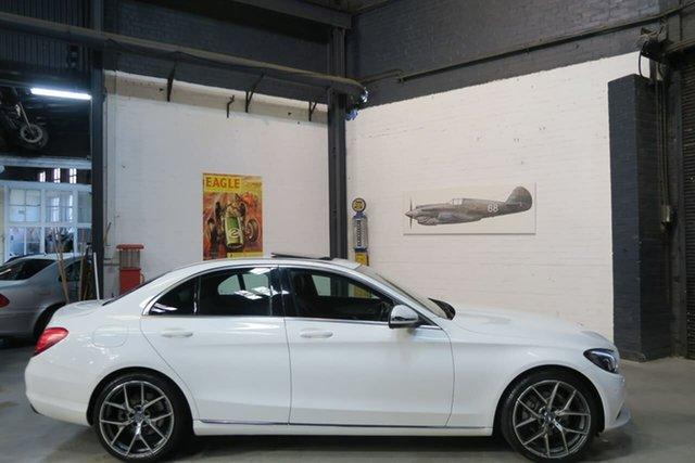 Used Mercedes-Benz C200 W205 807MY 7G-Tronic +, 2016 Mercedes-Benz C200 W205 807MY 7G-Tronic + White 7 Speed Sports Automatic Sedan