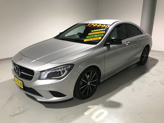 Used Mercedes-Benz CLA200 C117 DCT, 2014 Mercedes-Benz CLA200 C117 DCT Silver 7 Speed Sports Automatic Dual Clutch Coupe