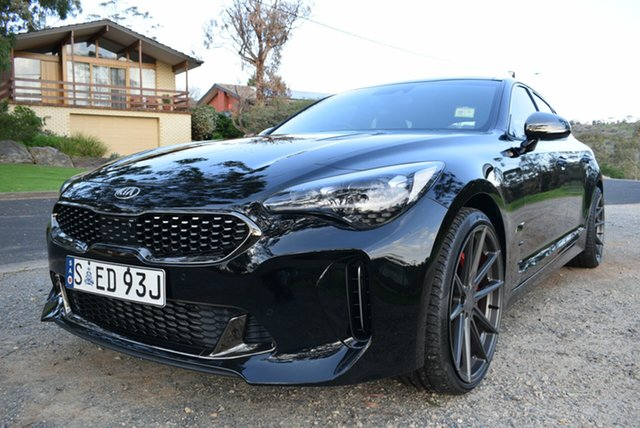 Demo Kia Stinger CK MY19 GT (blk LTH W Michelin Tyr), 2019 Kia Stinger CK MY19 GT (blk LTH W Michelin Tyr) Aurora Black 8 Speed Automatic Sedan