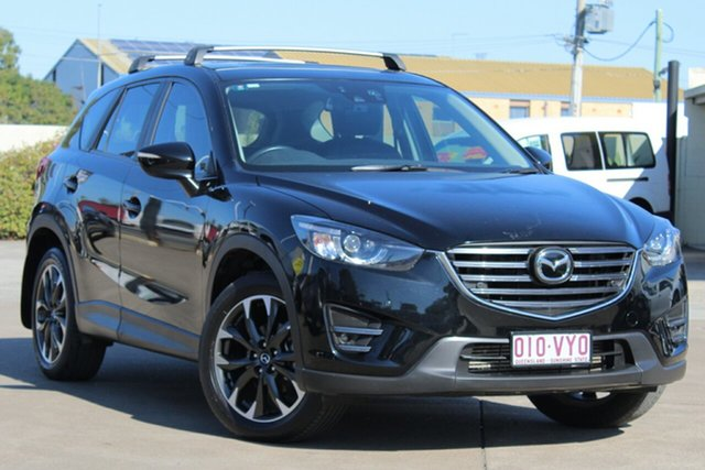 Used Mazda CX-5 KE1022 Akera SKYACTIV-Drive AWD, 2015 Mazda CX-5 KE1022 Akera SKYACTIV-Drive AWD Black 6 Speed Sports Automatic Wagon