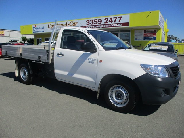 Used Toyota Hilux TGN16R MY14 Workmate 4x2, 2015 Toyota Hilux TGN16R MY14 Workmate 4x2 White 4 Speed Automatic Cab Chassis