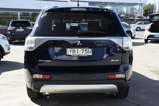 2014 Mitsubishi Outlander ZJ MY14.5 Aspire (4x4) Blue Continuous Variable Wagon