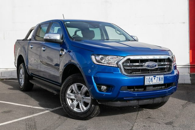 Used Ford Ranger PX MkIII 2019.00MY XLT Pick-up Double Cab 4x2 Hi-Rider, 2019 Ford Ranger PX MkIII 2019.00MY XLT Pick-up Double Cab 4x2 Hi-Rider Blue 10 Speed