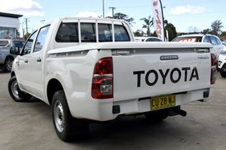 2014 Toyota Hilux TGN16R MY14 Workmate White 4 Speed Automatic Dual Cab Pick-up.