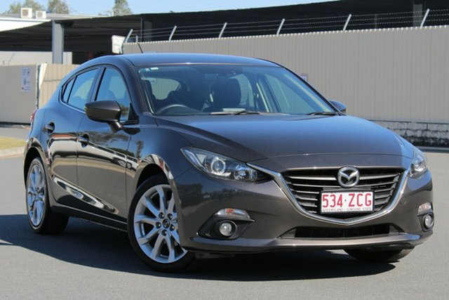 Used Mazda 3 BM5438 SP25 SKYACTIV-Drive, 2014 Mazda 3 BM5438 SP25 SKYACTIV-Drive Grey 6 Speed Sports Automatic Hatchback