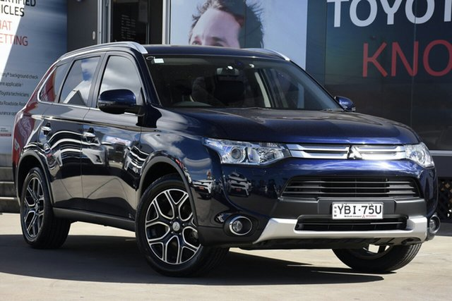 Used Mitsubishi Outlander ZJ MY14.5 Aspire (4x4), 2014 Mitsubishi Outlander ZJ MY14.5 Aspire (4x4) Blue Continuous Variable Wagon