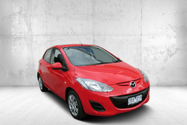 Used Mazda 2 DE10Y2 MY13 Neo, 2013 Mazda 2 DE10Y2 MY13 Neo Red 4 Speed Automatic Hatchback