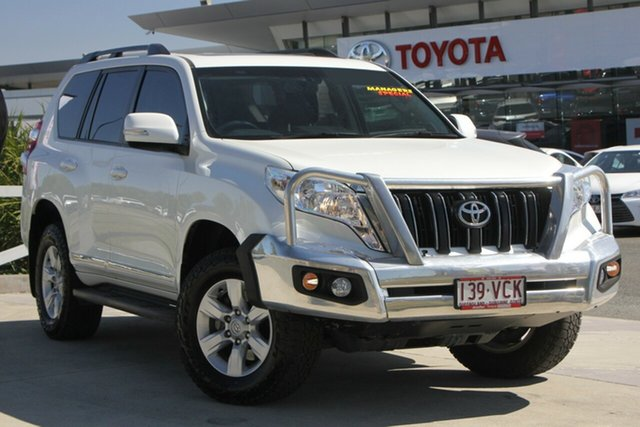 Used Toyota Landcruiser Prado KDJ150R MY14 Altitude, 2014 Toyota Landcruiser Prado KDJ150R MY14 Altitude Crystal Pearl 5 Speed Sports Automatic Wagon