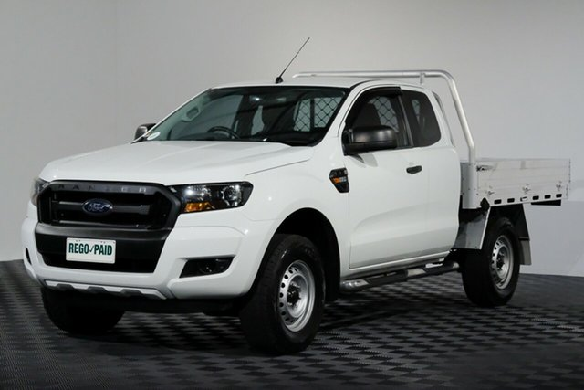 Used Ford Ranger PX MkII XL Super Cab 4x2 Hi-Rider, 2016 Ford Ranger PX MkII XL Super Cab 4x2 Hi-Rider Cool White 6 Speed Sports Automatic Cab Chassis