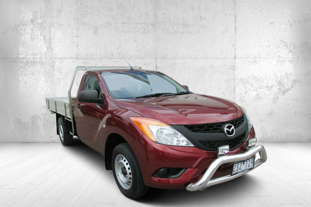 Used Mazda BT-50 UP0YD1 XT 4x2, 2013 Mazda BT-50 UP0YD1 XT 4x2 Red 6 Speed Manual Cab Chassis