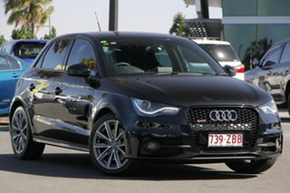 2012 Audi A1 8X MY13 Sport Sportback S Tronic Black 7 Speed Sports Automatic Dual Clutch Hatchback.