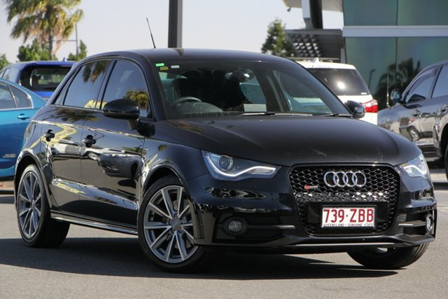 Used Audi A1 8X MY13 Sport Sportback S Tronic, 2012 Audi A1 8X MY13 Sport Sportback S Tronic Black 7 Speed Sports Automatic Dual Clutch Hatchback