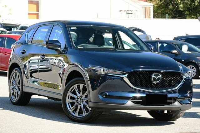 New Mazda CX-5 KF4WLA Akera SKYACTIV-Drive i-ACTIV AWD Liverpool, 2021 Mazda CX-5 KF4WLA Akera SKYACTIV-Drive i-ACTIV AWD Deep Crystal Blue 6 Speed Sports Automatic