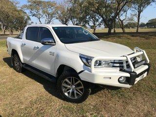 2017 Toyota Hilux GUN126R MY17 SR5 (4x4) Crystal Pearl 6 Speed Automatic Dual Cab Utility.
