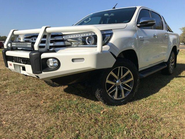Used Toyota Hilux GUN126R MY17 SR5 (4x4), 2017 Toyota Hilux GUN126R MY17 SR5 (4x4) Crystal Pearl 6 Speed Automatic Dual Cab Utility