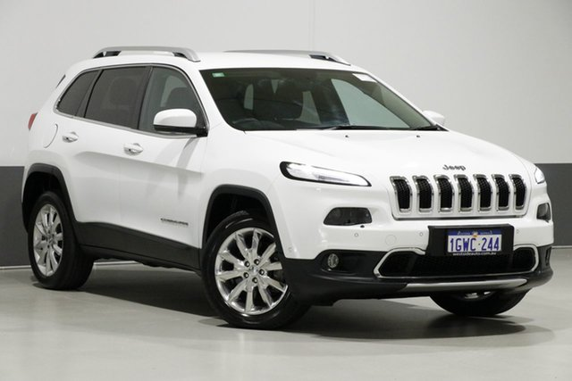 Used Jeep Cherokee KL MY15 Limited (4x4), 2014 Jeep Cherokee KL MY15 Limited (4x4) White 9 Speed Automatic Wagon