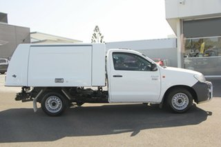 2015 Toyota Hilux TGN16R MY14 Workmate 4x2 White 4 Speed Automatic Cab Chassis.