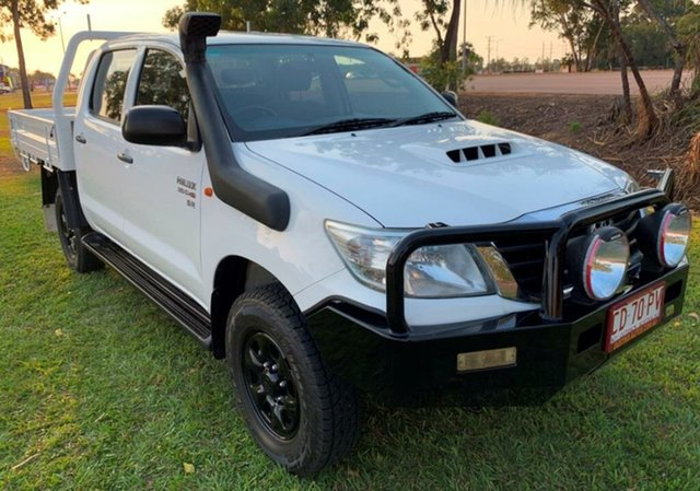 Used Toyota Hilux KUN26R MY12 SR Double Cab, 2013 Toyota Hilux KUN26R MY12 SR Double Cab White 5 Speed Manual Utility