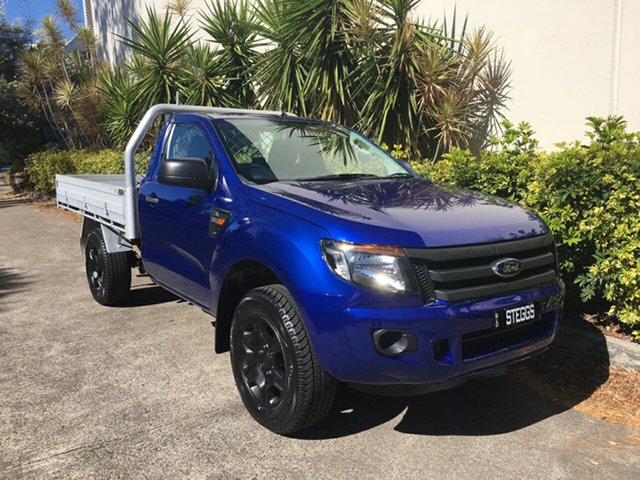 Used Ford Ranger PX XL 2.2 (4x4), 2014 Ford Ranger PX XL 2.2 (4x4) Blue 6 Speed Manual Cab Chassis