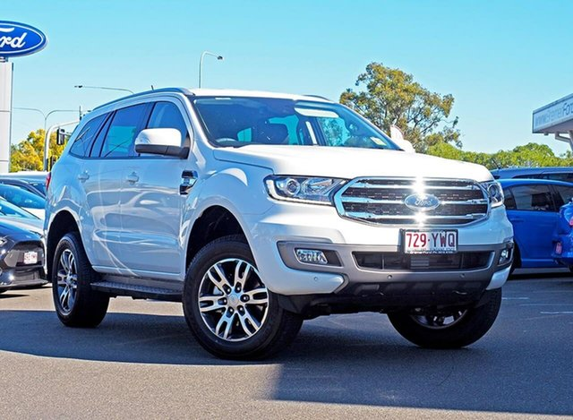 Used Ford Everest UA II 2019.00MY Trend 4WD, 2019 Ford Everest UA II 2019.00MY Trend 4WD Arctic White 10 Speed Sports Automatic Wagon