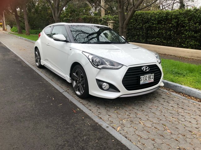 Used Hyundai Veloster FS4 Series II SR Coupe Turbo, 2014 Hyundai Veloster FS4 Series II SR Coupe Turbo White 6 Speed Manual Hatchback