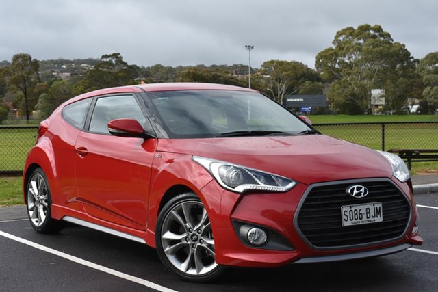 Used Hyundai Veloster FS4 Series II SR Coupe Turbo, 2015 Hyundai Veloster FS4 Series II SR Coupe Turbo Red 6 Speed Manual Hatchback