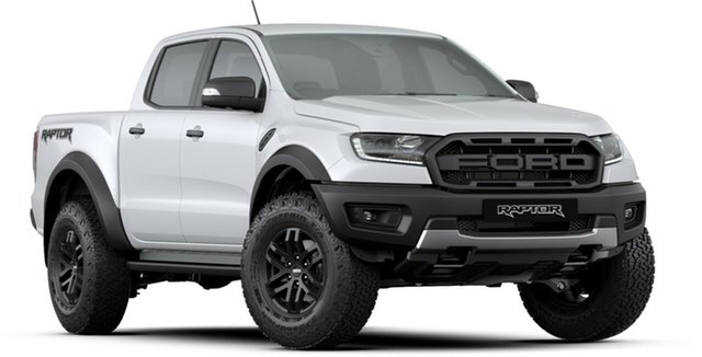 New Ford Ranger PX MkIII 2019.00MY Raptor Pick-up Double Cab, 2019 Ford Ranger PX MkIII 2019.00MY Raptor Pick-up Double Cab Arctic White 10 Speed Sports Automatic