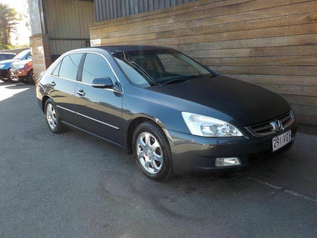 Used Honda Accord 7th Gen V6 Luxury, 2003 Honda Accord 7th Gen V6 Luxury Grey 5 Speed Automatic Sedan