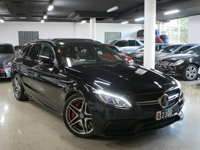 Used Mercedes-Benz C-Class S205 807MY C63 AMG Estate SPEEDSHIFT MCT S, 2016 Mercedes-Benz C-Class S205 807MY C63 AMG Estate SPEEDSHIFT MCT S Black 7 Speed Sports Automatic