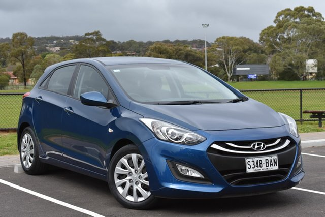 Used Hyundai i30 GD2 Active, 2014 Hyundai i30 GD2 Active Blue 6 Speed Sports Automatic Hatchback