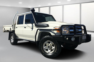 2017 Toyota Landcruiser LC70 VDJ79R MY17 GXL (4x4) French Vanilla 5 Speed Manual Double Cab Chassis.