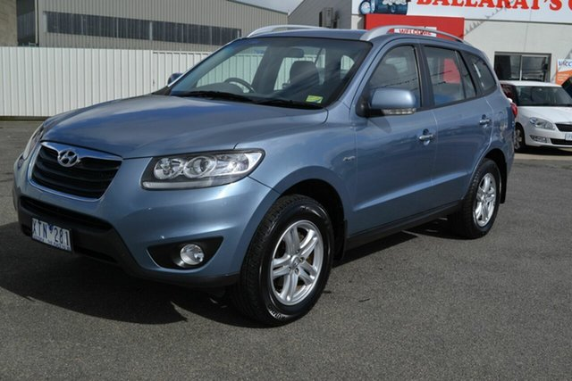 Used Hyundai Santa Fe CM MY10 Elite CRDi (4x4), 2010 Hyundai Santa Fe CM MY10 Elite CRDi (4x4) Blue 6 Speed Automatic Wagon