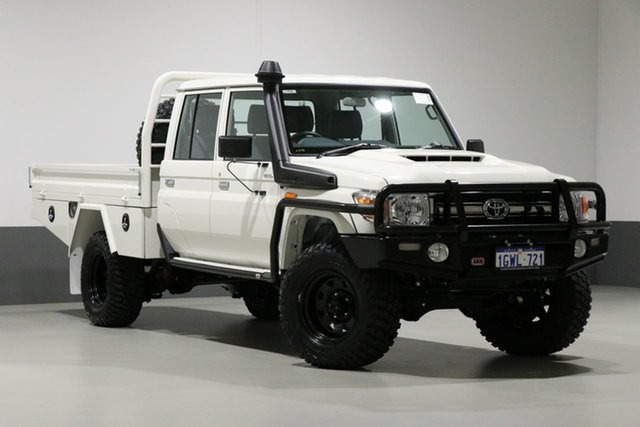 Used Toyota Landcruiser VDJ79R MY18 GXL (4x4), 2019 Toyota Landcruiser VDJ79R MY18 GXL (4x4) White 5 Speed Manual Double Cab Chassis