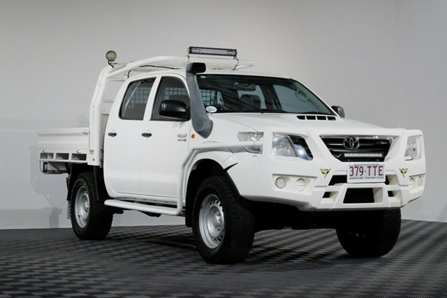 Used Toyota Hilux KUN26R MY12 SR Double Cab, 2013 Toyota Hilux KUN26R MY12 SR Double Cab White 4 Speed Automatic Utility