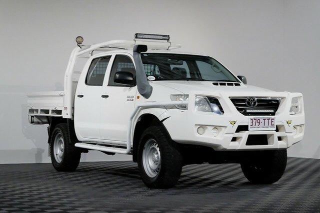 Used Toyota Hilux KUN26R MY12 SR Double Cab, 2013 Toyota Hilux KUN26R MY12 SR Double Cab White 4 Speed Automatic Utility