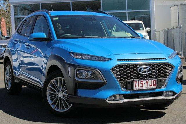 Used Hyundai Kona OS MY18 Elite D-CT AWD, 2017 Hyundai Kona OS MY18 Elite D-CT AWD Blue 7 Speed Sports Automatic Dual Clutch Wagon