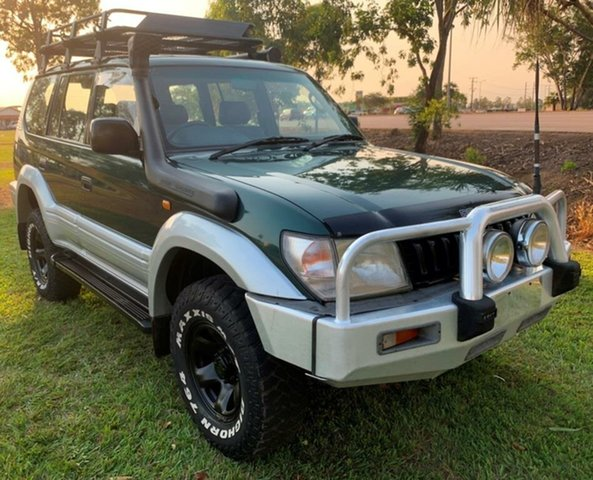 Used Toyota Landcruiser Prado VZJ95R GXL, 1997 Toyota Landcruiser Prado VZJ95R GXL Green 5 Speed Manual Wagon