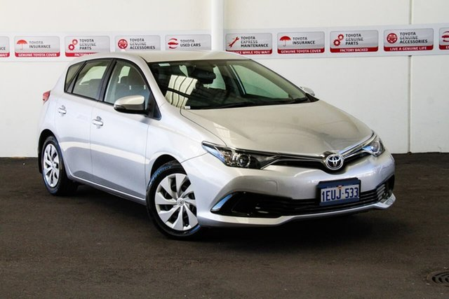 Used Toyota Corolla ZRE182R MY15 Ascent, 2015 Toyota Corolla ZRE182R MY15 Ascent Silver Pearl 7 Speed CVT Auto Sequential Hatchback