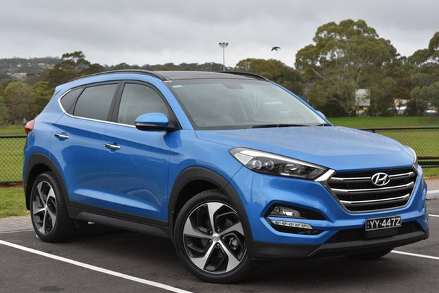 Used Hyundai Tucson TLE Elite 2WD, 2016 Hyundai Tucson TLE Elite 2WD Blue 6 Speed Sports Automatic Wagon