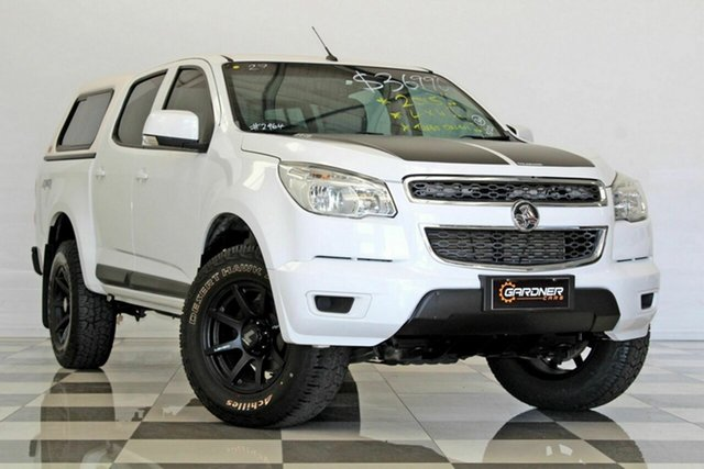 Used Holden Colorado RG MY15 LT (4x4), 2015 Holden Colorado RG MY15 LT (4x4) White 6 Speed Manual Crew Cab Pickup