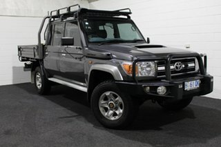 2016 Toyota Landcruiser VDJ79R GXL Double Cab Grey 5 Speed Manual Cab Chassis.